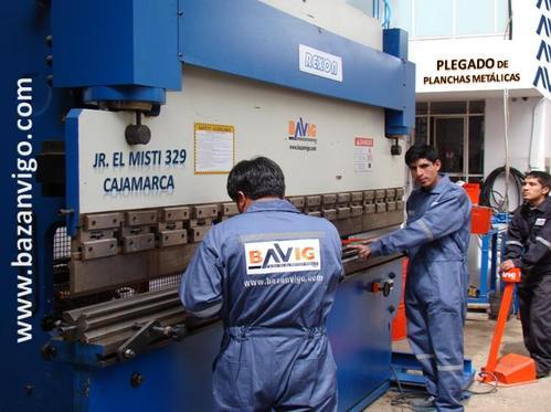PLEGADO DE PLANCHAS METÁLICAS EN BAVIG SAC - CAJAMARCA