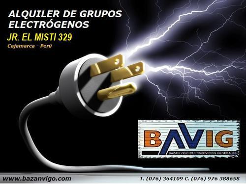 ALQUILER DE GRUPOS ELECTRÓGENOS EN BAVIG SAC - CAJAMARCA