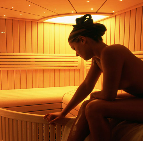 Sauna seca con cromoterapia Led