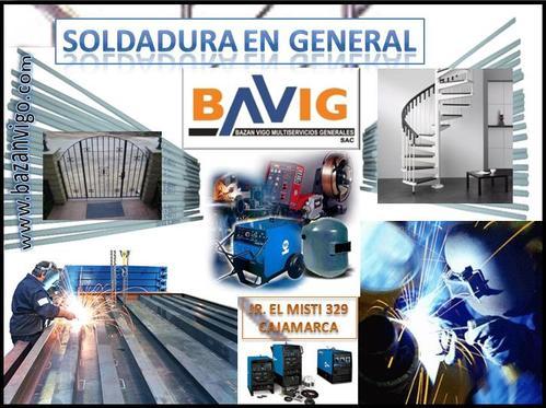 SERVICIO DE SOLDADURA EN BAVIG SAC - CAJAMARCA