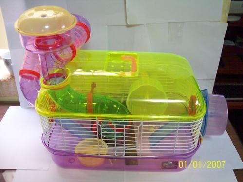 Casa Jaula Para Hamster O Ratones De Acrilico Mascota Lujo