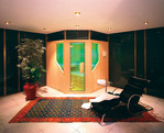 Sauna seca con cromoterapia.