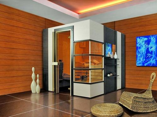 Cabina de sauna seca panoramica