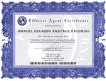CERTIFICATE OF AUTHORIZED AGENT IN ECUADOR