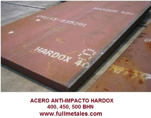 400 placas BHN antiabrasive