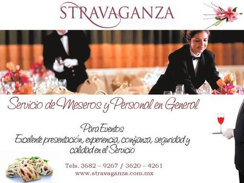 Servicio profesional de Meseros para Eventos en Guadalajara