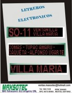 Letrero panel electrónico