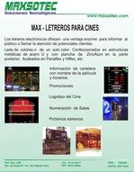 LETRERO PARA CINES