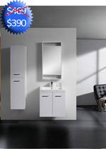 portas de armário do banheiro e Sink - 24 wide
