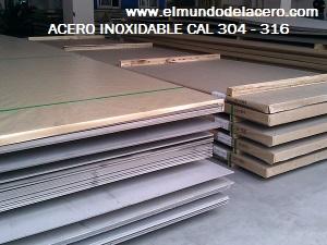 planchas de acero ESTRIADAS inoxidables 304-304L-316L