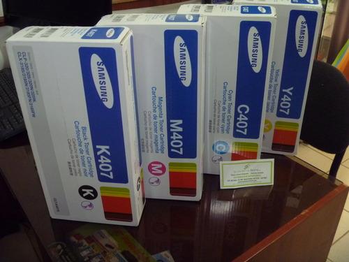 Toner samsung Codigo 407 todos los colores, delivery gratuito en lima