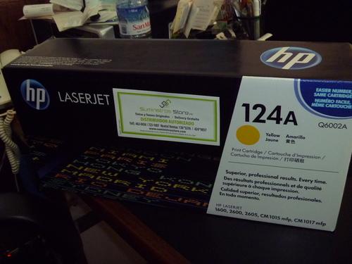 Toner HP Q6002A Yellow Original para HP 2600 y 2605