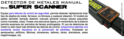 Metal Detector - Super Scanner - Palet (Garrett)