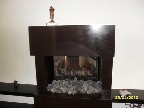chimenea de cuarzo
