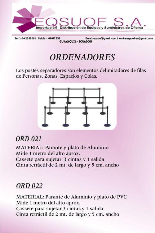 POSTES/ PARANTES/ SEPARADORES