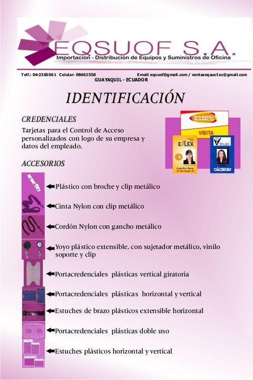 CARNE DE IDENTIFICACION / CREDENCIALES / COLLARES