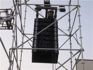 torres multidireccionales para parlantes aereos, sistema europeo