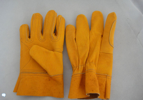 Yellow Gloves Reinforced Total External 9.5