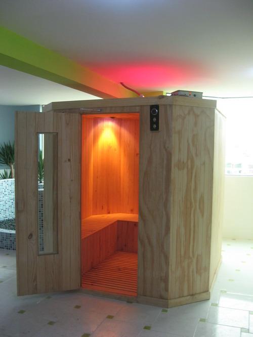 Cabina de sauna seca portable