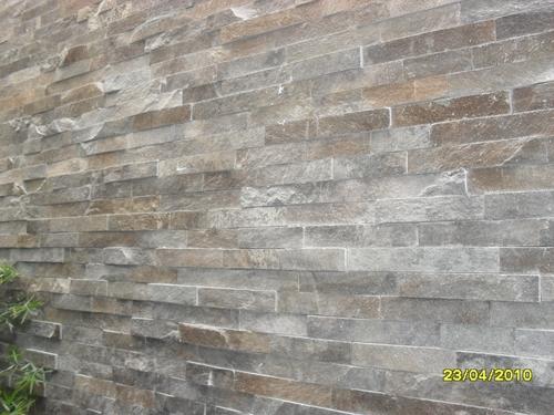 fachaletas de piedra talamoye de 5 cm., 10 cm., 20 cm., en la pared