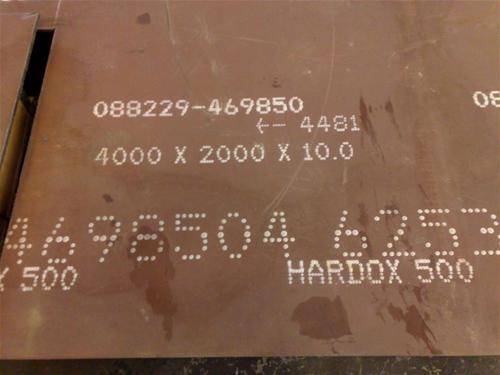 acero chronit T-1 400, 450, 500 Bhn brinell