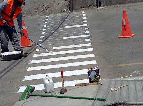 Pintado de Lineas peatonales