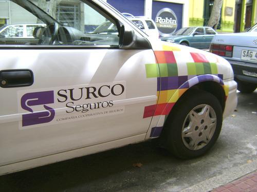 Decoracion Vehicular Grafica parcial institucional