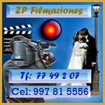 ZP Filmaciones desde S/70 mas una copia. Llámenos con anticipación !