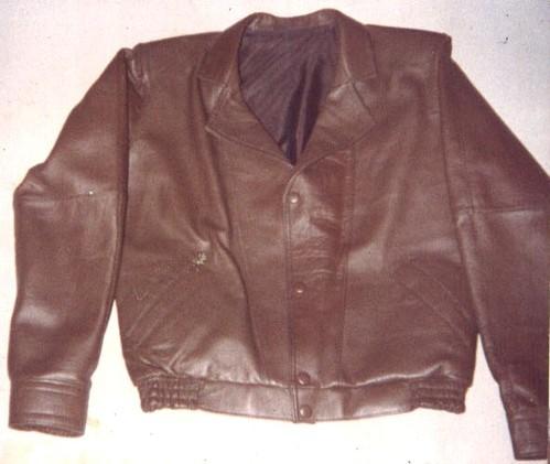 Jaqueta de couro de bezerro