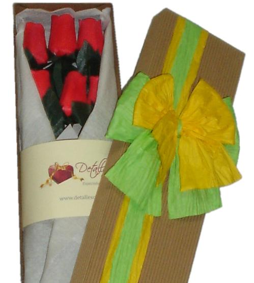 Rosas Eternas: 06 rosas en caja