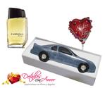 Perfume Cardigan + auto de chocolate + globo