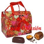 Caja con chocotejas Chocoamor