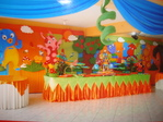 Decoraciones de Los Backyardigans
