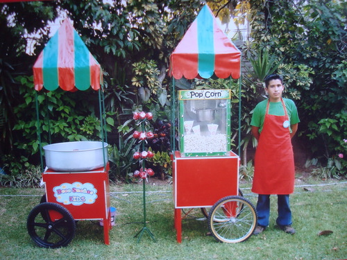 snack carts and popcorn cotton