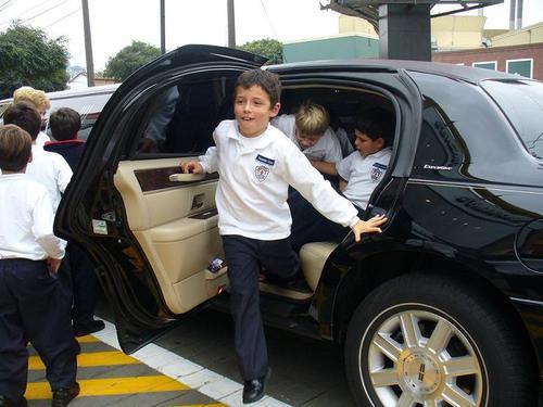 Cumpleaños de niños en limousine
