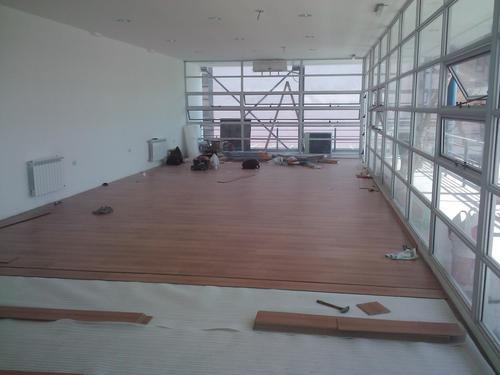 Colocación de piso de madera