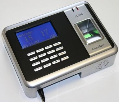 Biometrische presentielijst klok