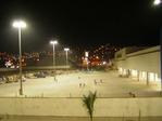 Foto panorámica de noche en obra Gran Terminal Terrestre Lima Norte
