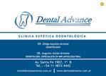 Advance Dental Clinic Odontologia Cosmética Implantes Dentários branqueada