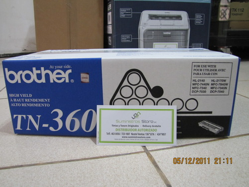 Toner brother TN-360 original para HL-2140 - HL-2170W