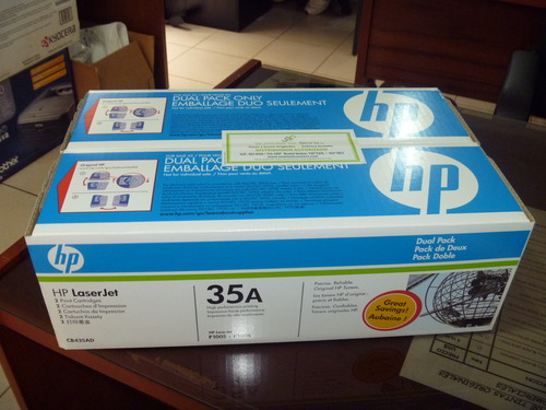 Toner HP 35A dual pack x 2 model units - free delivery