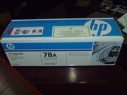 Toner HP CE-278A para modelos P1566/1606 original -delivery Lima
