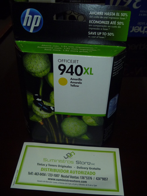 Tinta HP 940XL Amarillo Original - Distribuidor HP