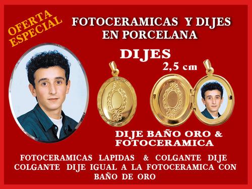 FOTOCERAMICAS Y DIJES PARA CEMENTERIO Y LAPIDAS