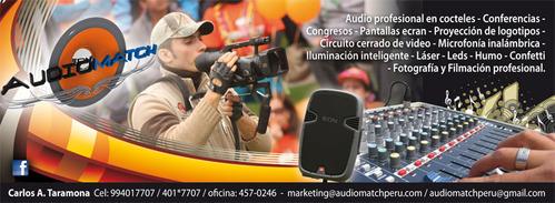 servicios de filmacion y fotografia Profesional