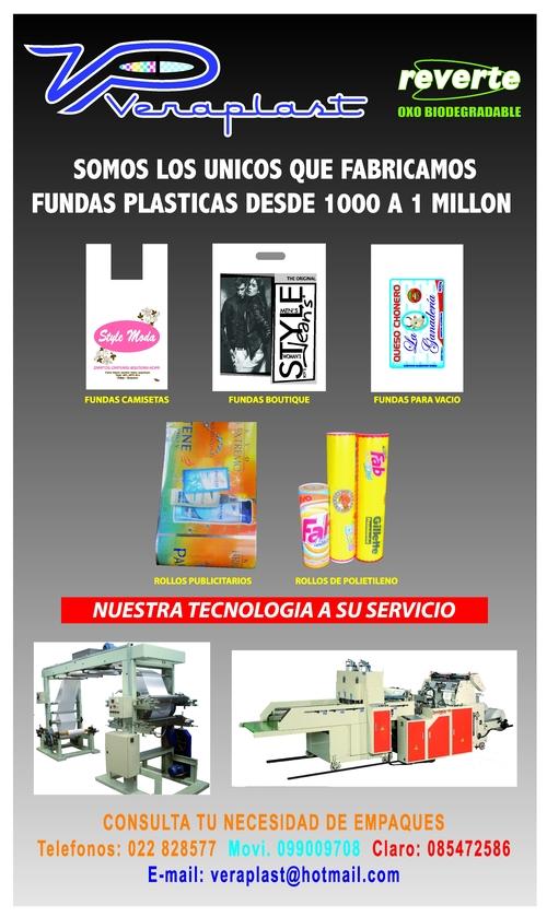 Fundas plásticas desde a 1 millon