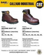 Calzado industrial Caterpillar modelo Holton ST y Second Shift ST