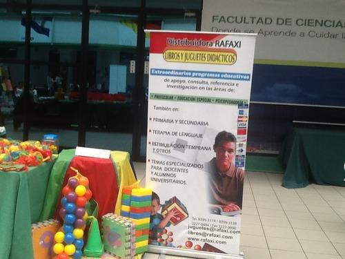 Exposição de alguns dos materiais de ensino que distribuímos