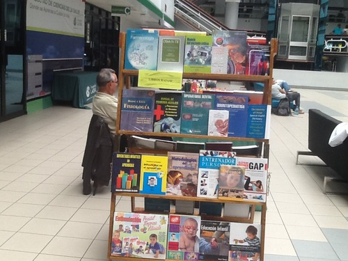Some of the wide range of textbooks we distribute.