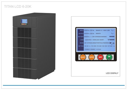 UPS con tecnología PWM de alta frecuencia.